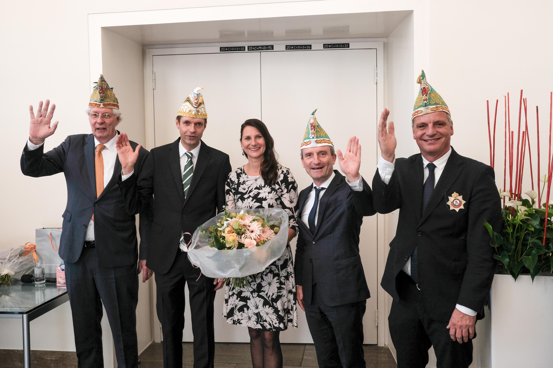 Düsseldorf 15.11.2018 Prinzenpaar Prinz Martin Meyer , Venetia Sabine Ilbertz Jan Wellem Saal Rathaus OB Thomas Geisel  Foto Michael Gstettenbauer Stadt Düsseldorf