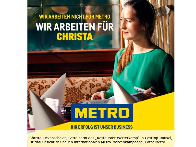 Metro wirbt mit junger Gastronomin aus Castrop-Rauxel