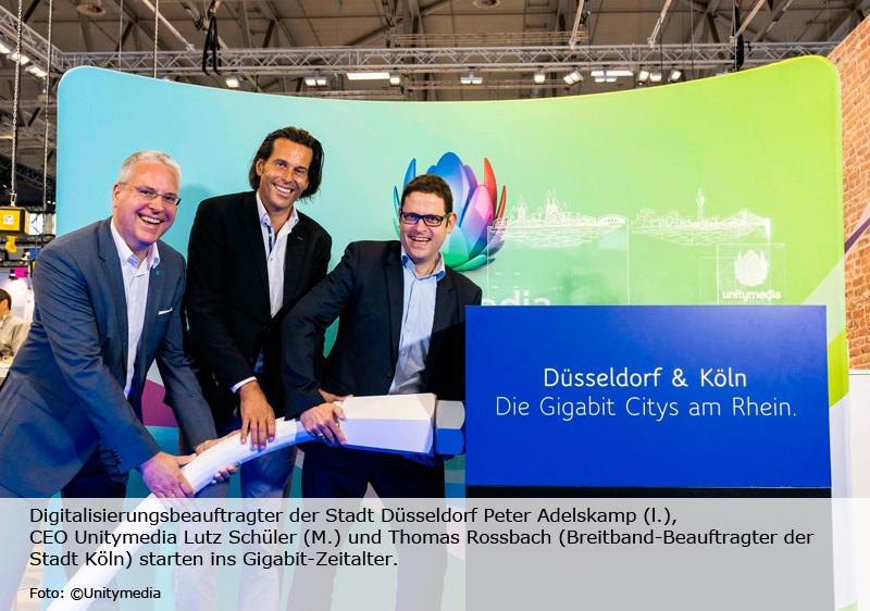 Blitzschnelles Netz für 360.000 Düsseldorfer