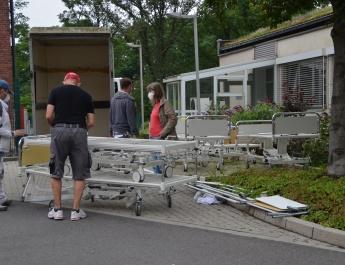 Knappschaftskrankenhaus unterstützt Pflegeeinrichtung nach Flutschäden